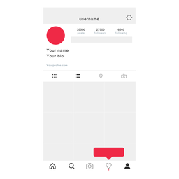Instagram post mockup.
