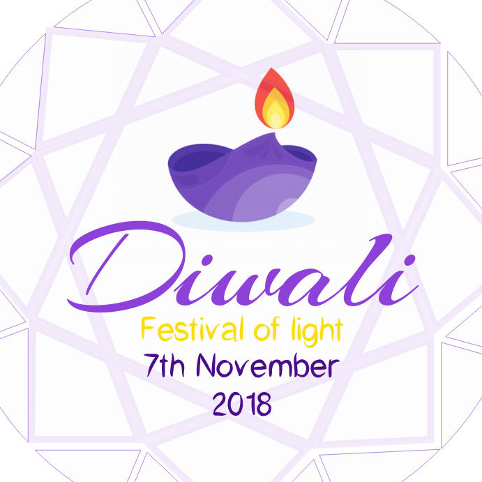 Diwali festival Instagram post template.