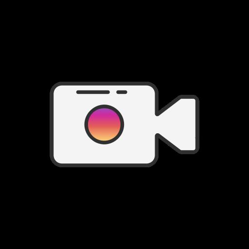 Instagram, post, record, video icon.