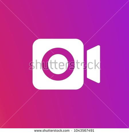 Instagram Video Icon Vector #302484.