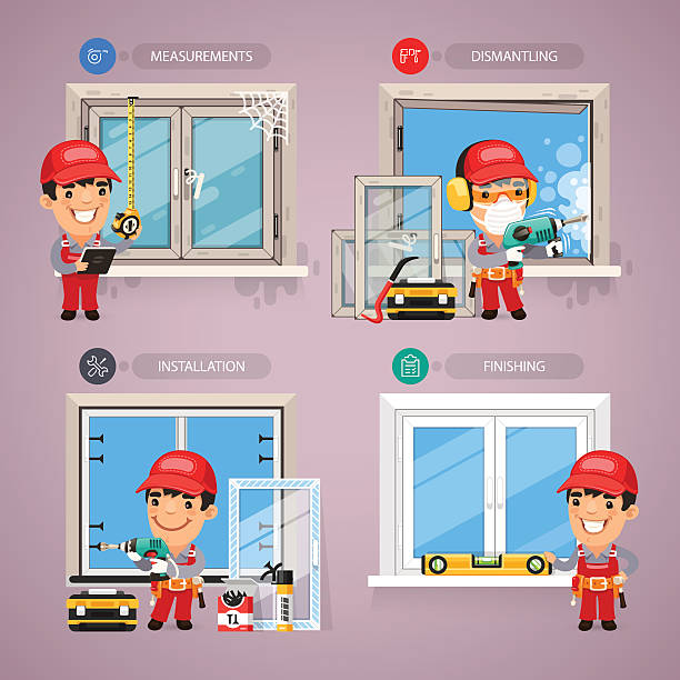 Window Install Clip Art, Vector Images & Illustrations.