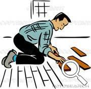 Flooring Installation Clip Art.