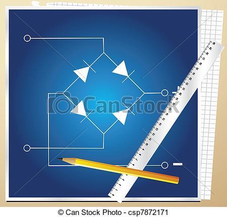 Vector Clip Art of Technical schema of installations.