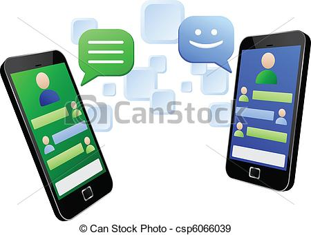 Instant message clipart.