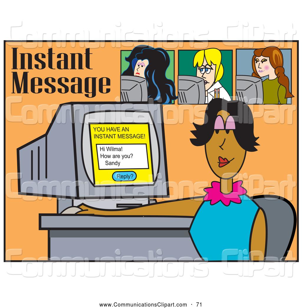 Instant message clipart.
