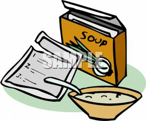 Package of Instant Soup Clipart Image.