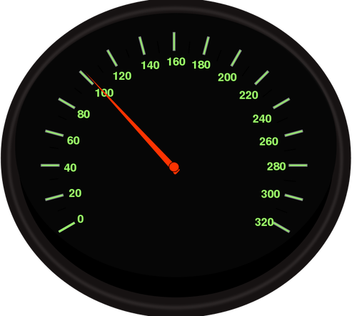 Vector clip art of speedometer.