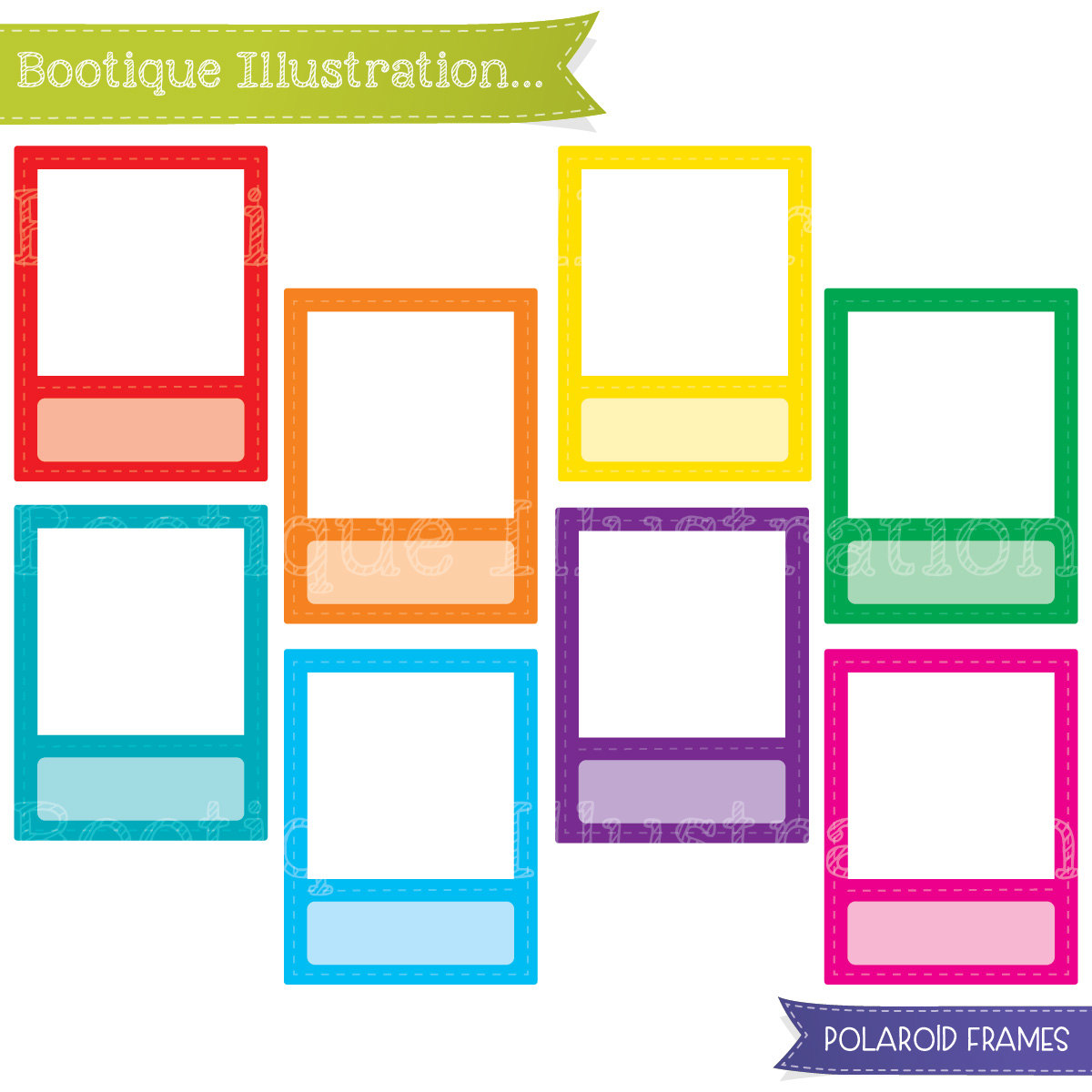 Instax Frame Clipart.