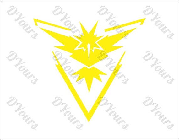 Pokemon Go Team Instinct Vector Clipart.