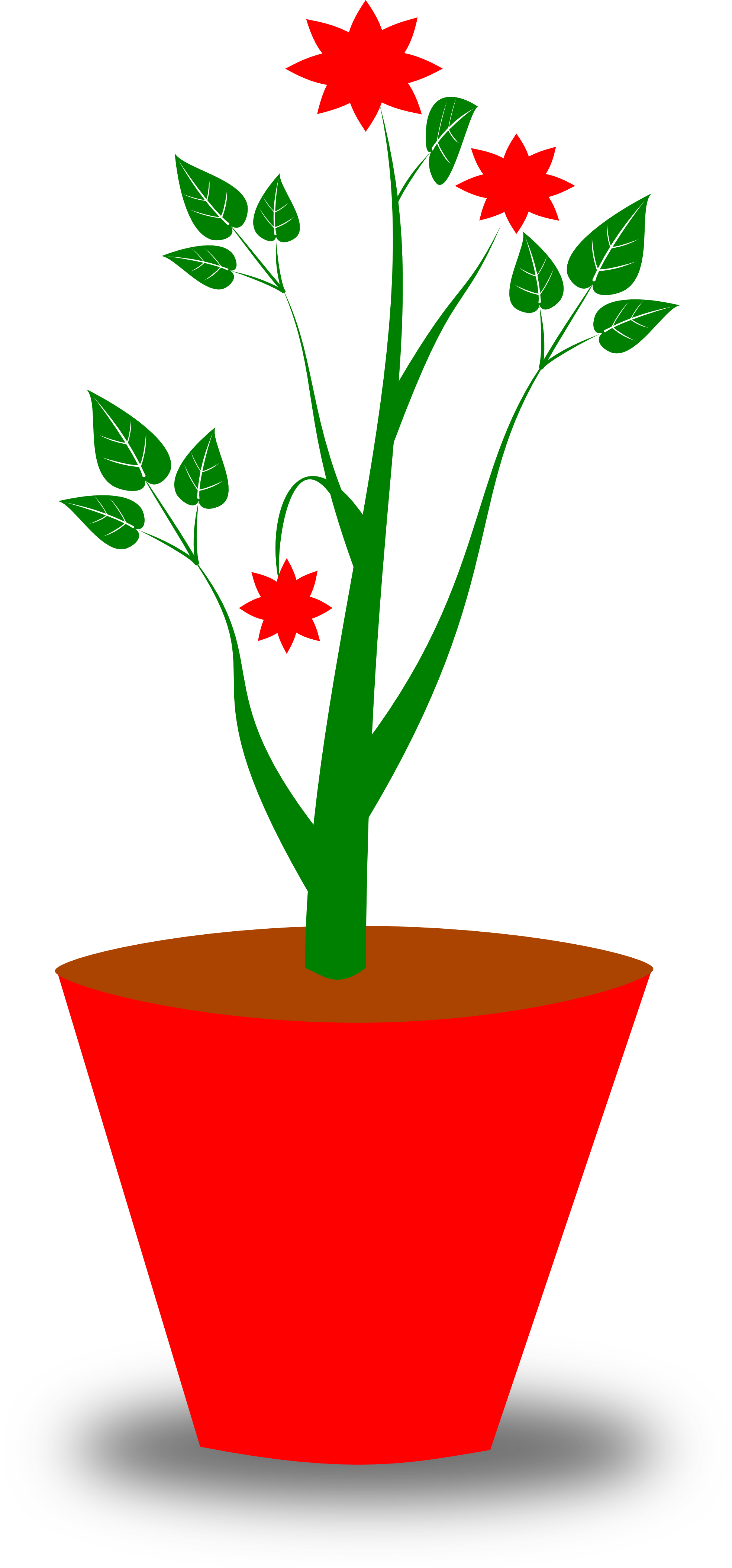 clipartist.net » Clip Art » gsagri 4 flower pot clipartist.net.