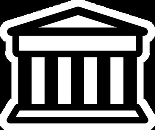 Bank pictogram vector clip art.