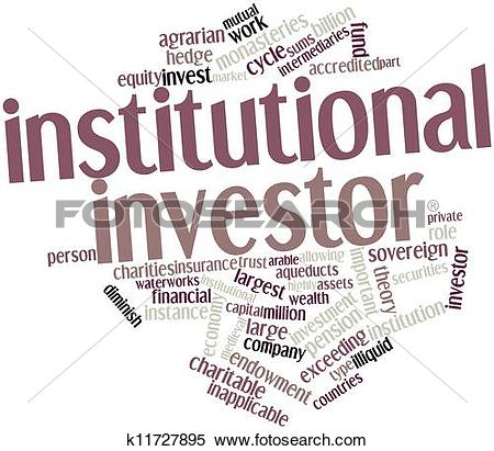 Stock Illustration of Institutional investor k11727895.