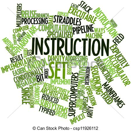 Clipart of Instruction set.