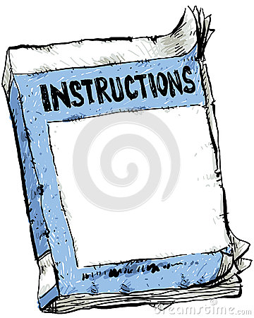 Clipart instruction manual.