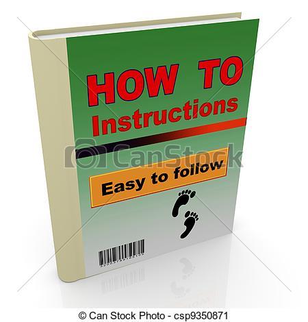 Instruction Manual Clip Art.