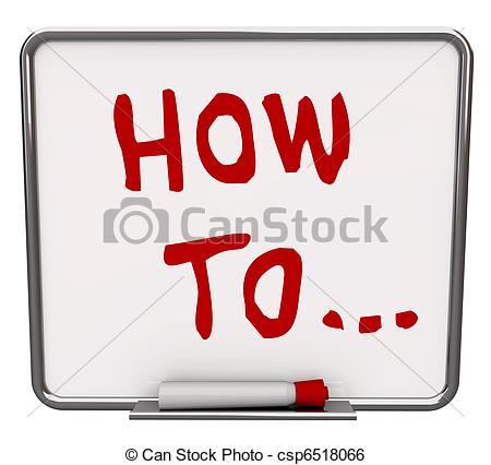 Instructions Clip Art.