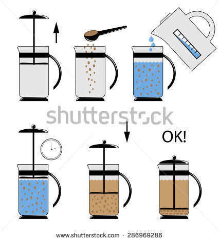 Vector Illustration Instructions Use Teapot French Stock Vector.