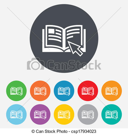 Vector Illustration of Instruction sign icon. Manual book symbol.