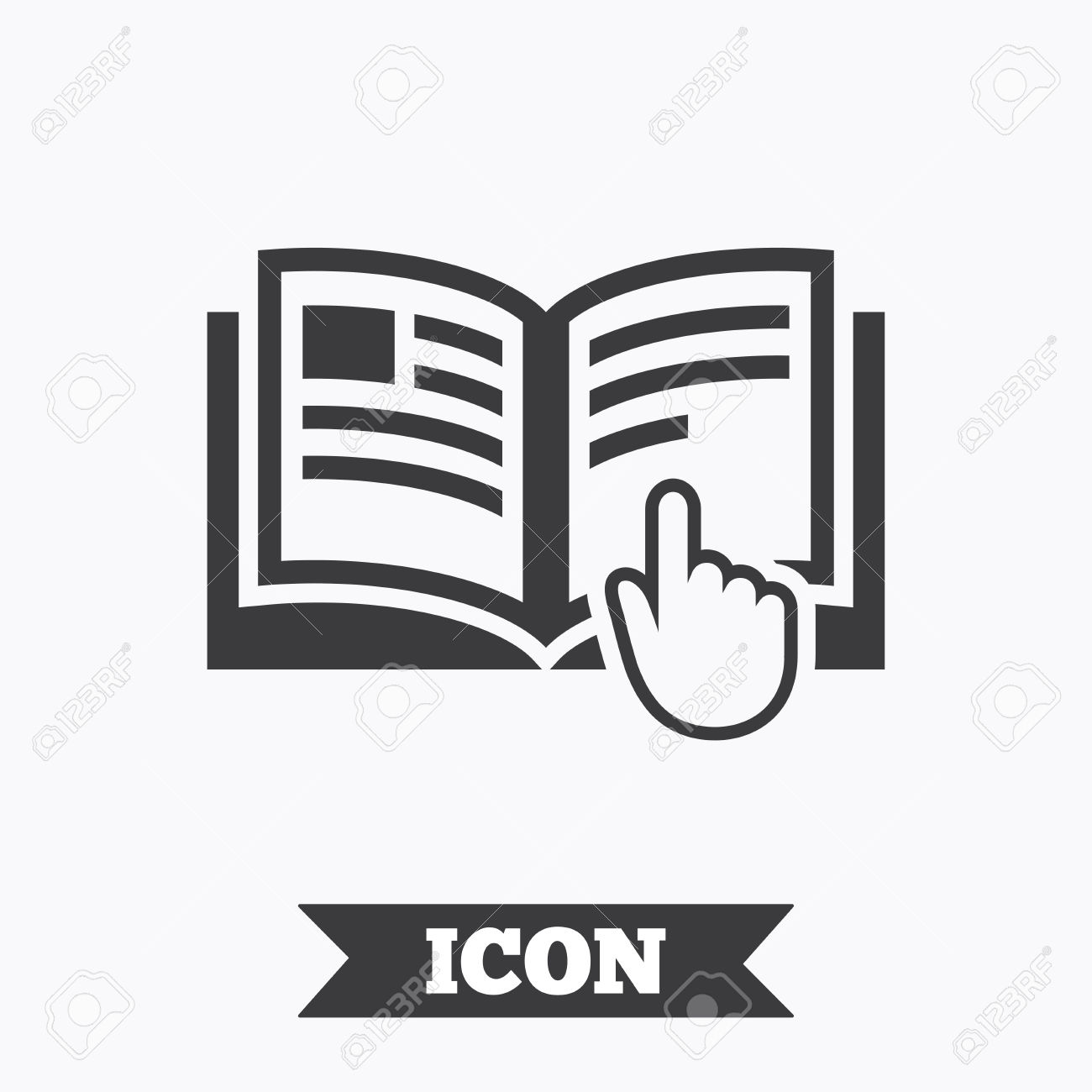 Instruction Sign Icon. Manual Book Symbol. Read Before Use.