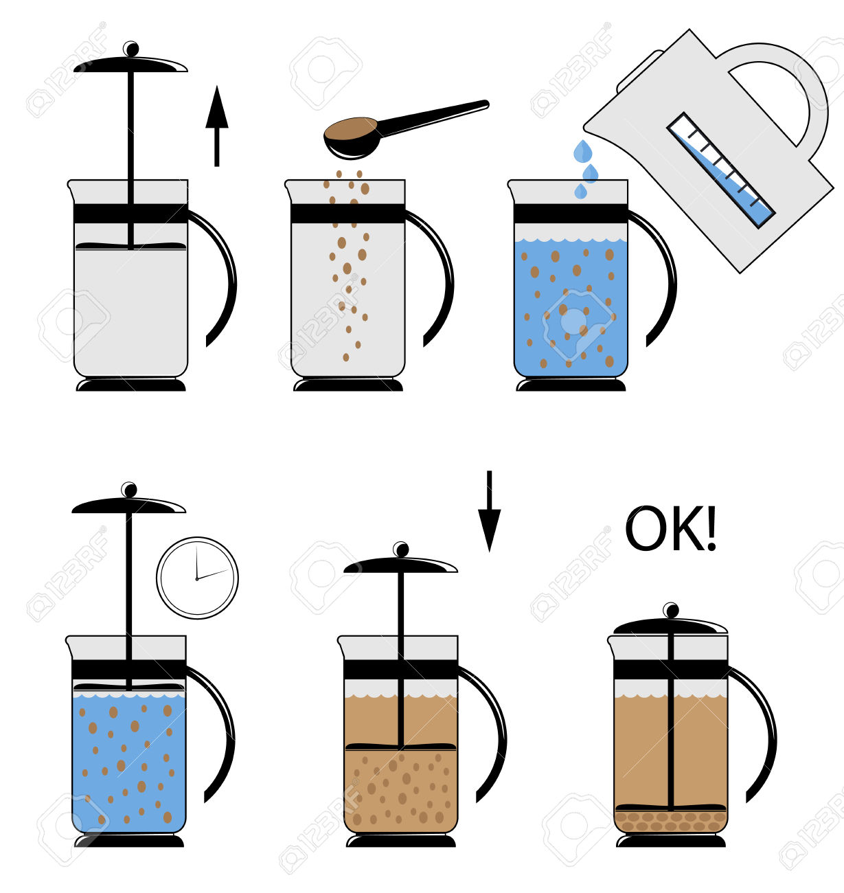 Vector Illustration. Instructions For Use Teapot.