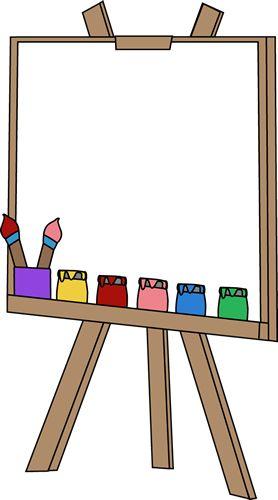 Blank Paint Easel Clip Art Image.