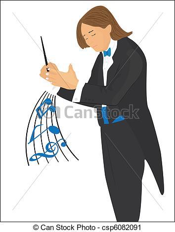 Vector Clip Art of Conductor.
