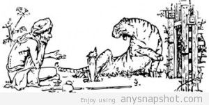 Free Cartoon Tigers Clipart.