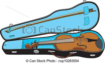 Clipart Vector of Violin in its case csp10283554.