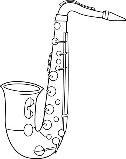 Band Instruments Clipart Black And White.