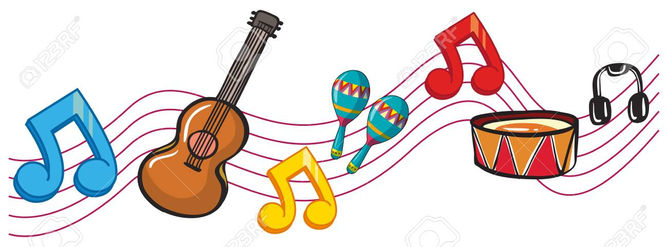 4308 Musical free clipart.