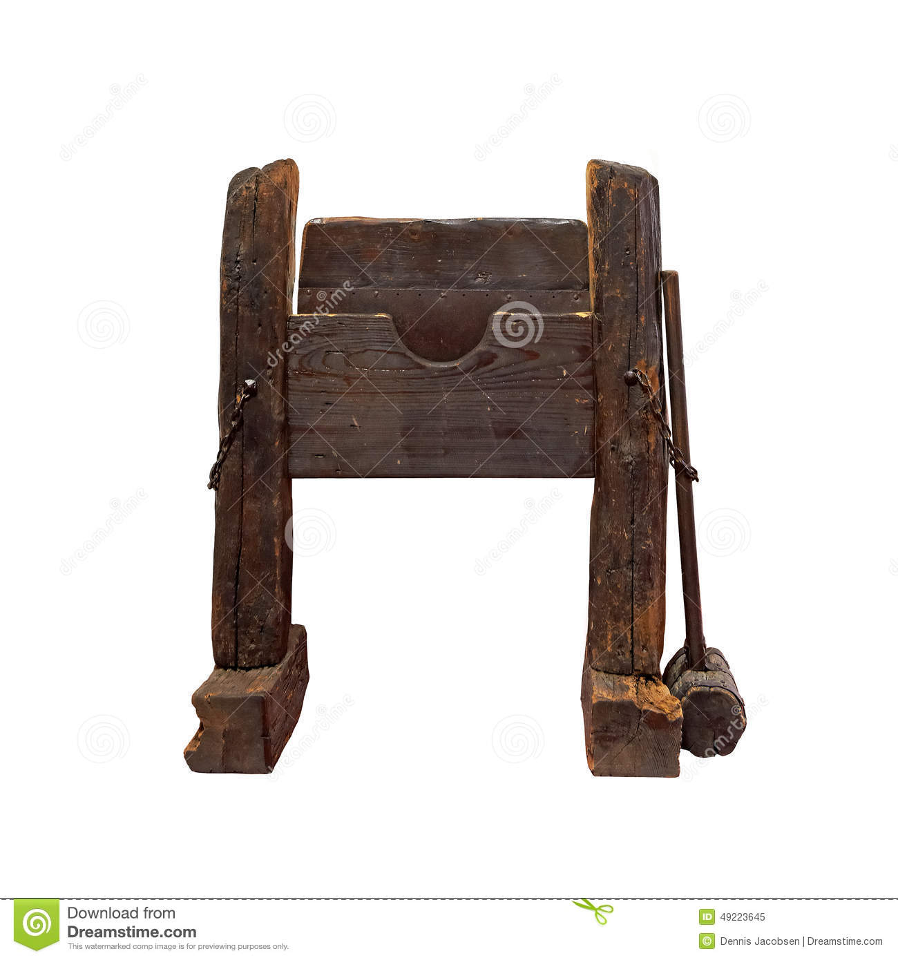 Medieval Torture Instrument Stock Photo.