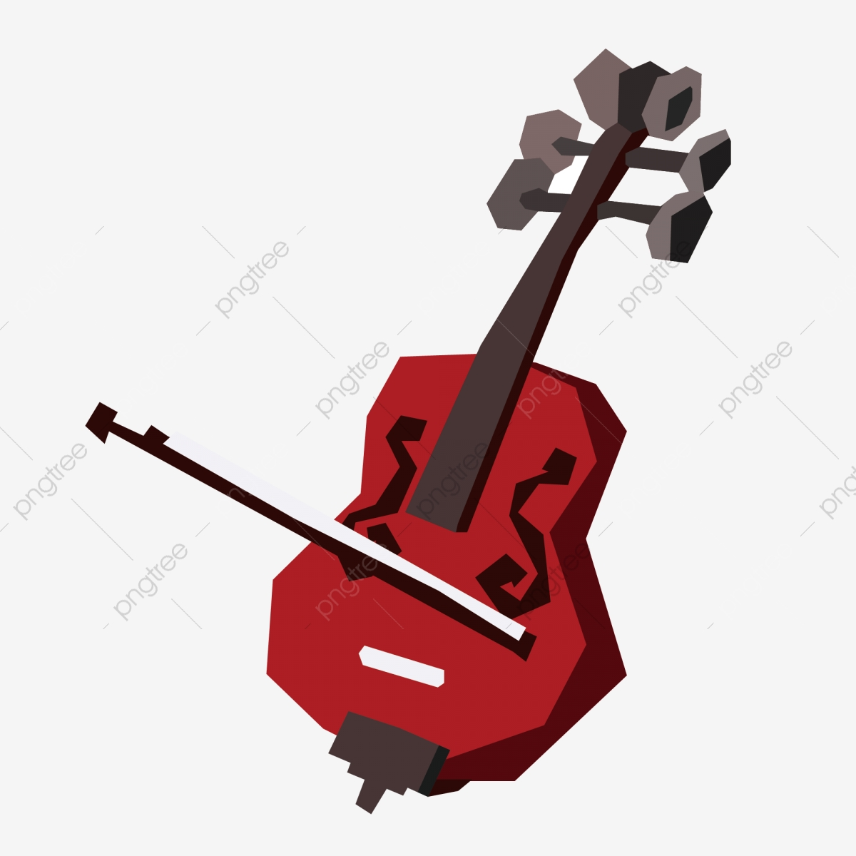 Musical Instrument Geometric Cartoon Violin Can Be Commercial.