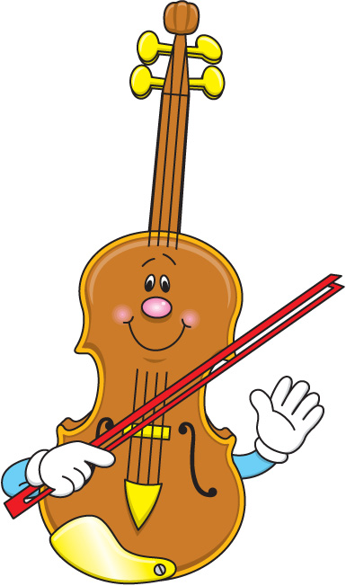 Cute musical instruments clipart.