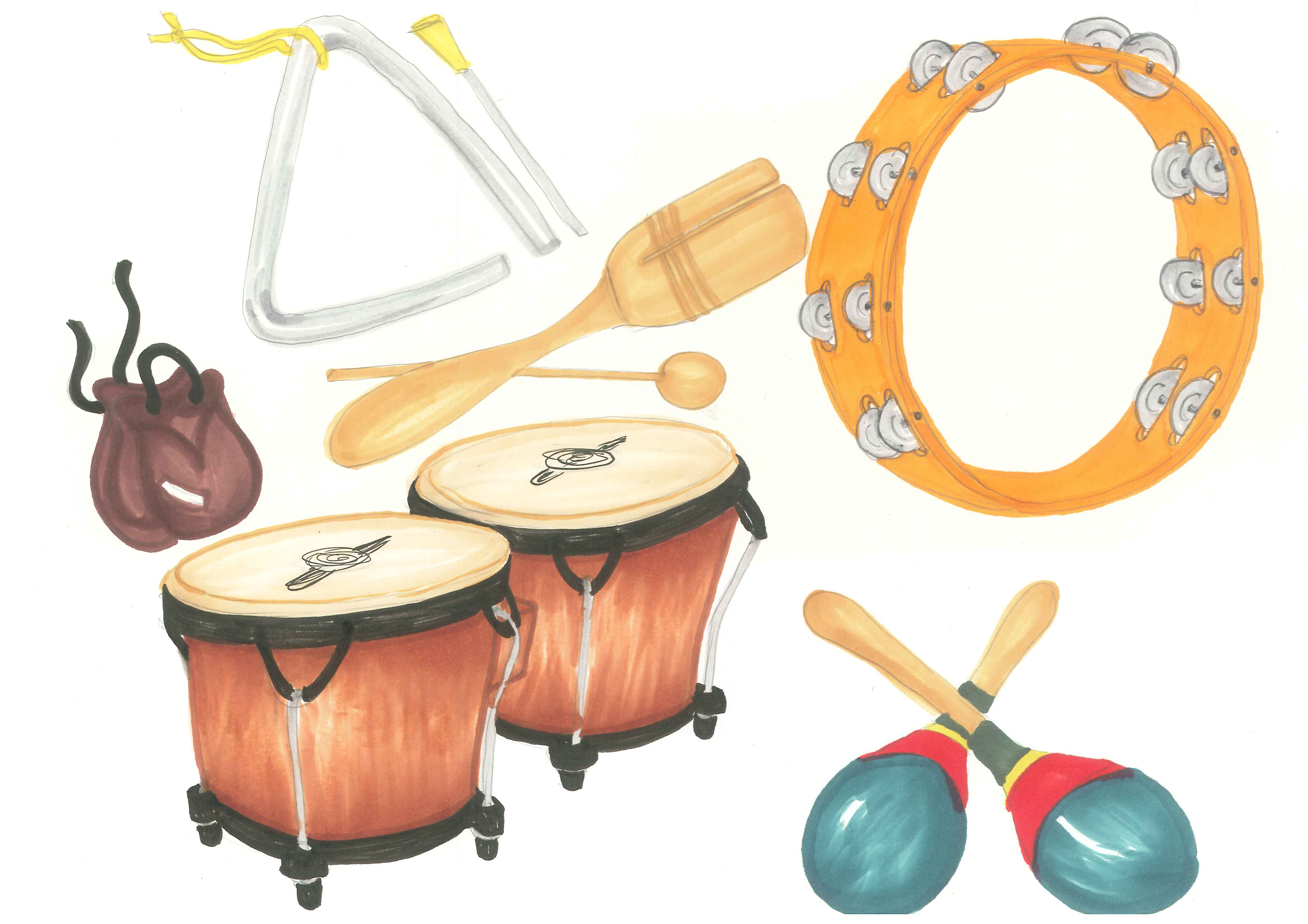 Musical instruments clipart.