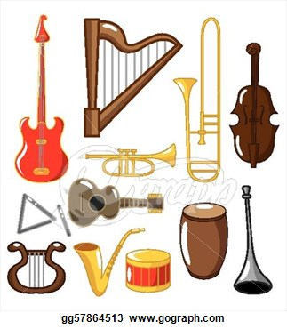 Instruments Clipart Page 1.