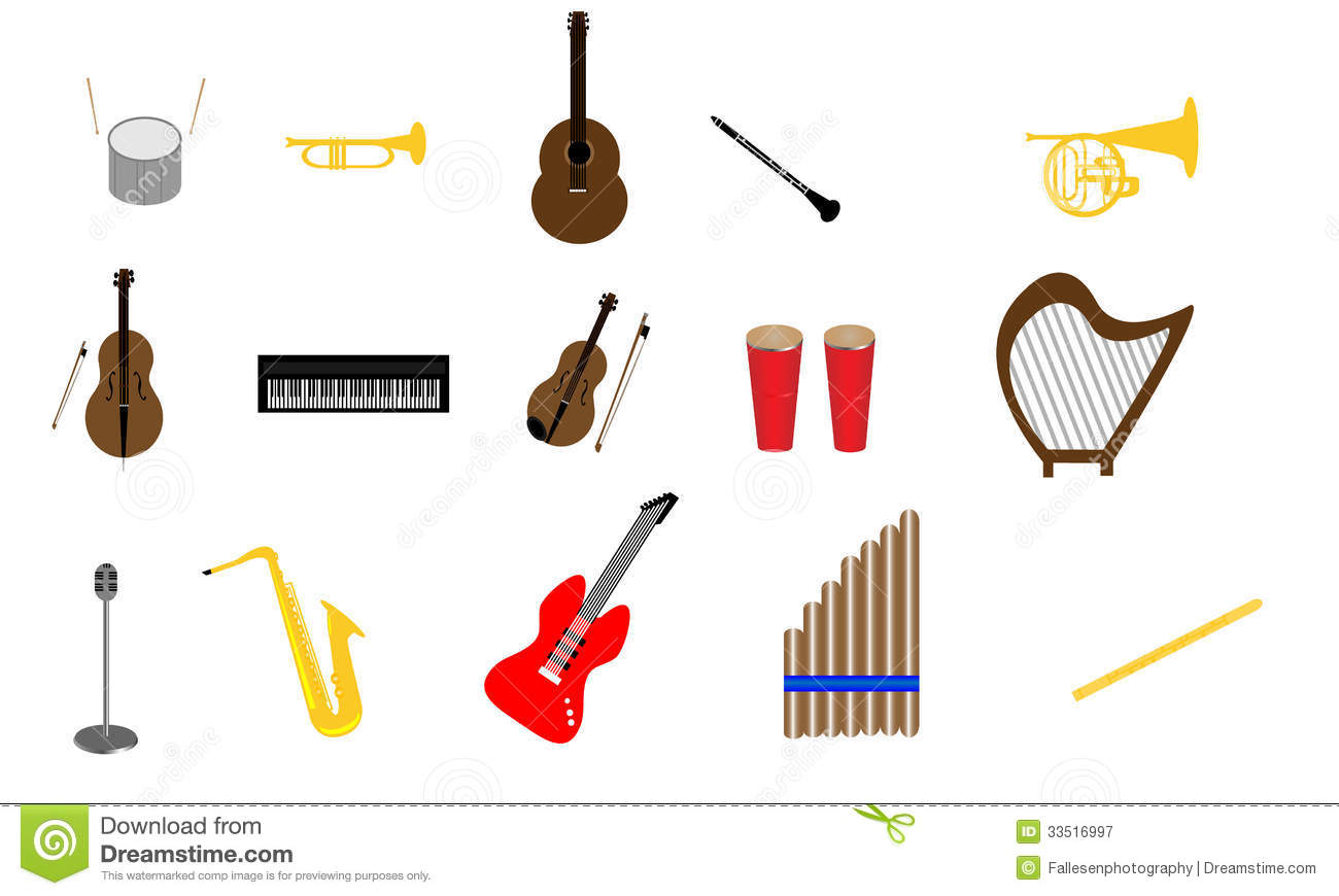 Orchestra Instruments Clipart.
