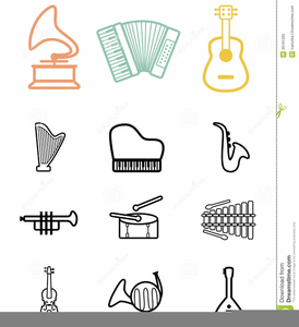 Musical Instrument Clipart Black And White.