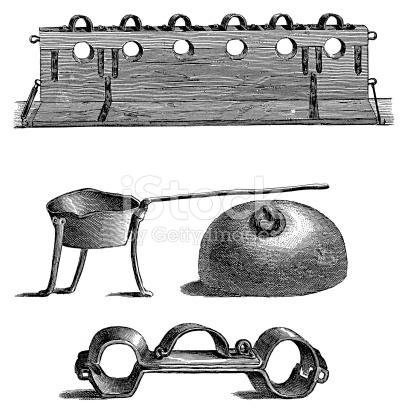 Medieval Torture Instruments stock vector art 180746087.