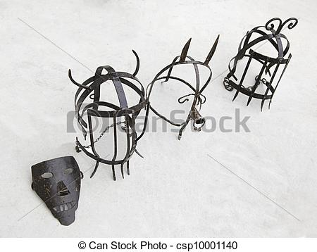 Stock Photo of Instruments of torture, inquisition, detail of.