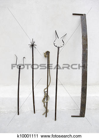 Stock Photography of Instruments of torture, inquisition k10001111.