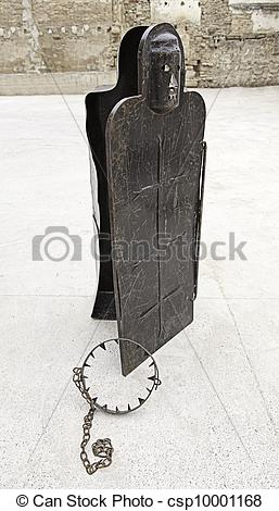 Stock Image of Instruments of torture, inquisition, detail of.