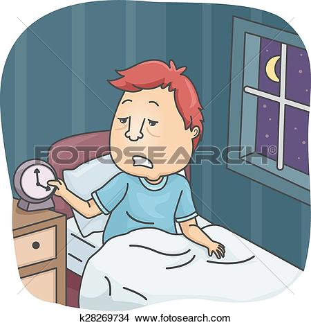 Clipart of Insufficient Sleep k28269734.