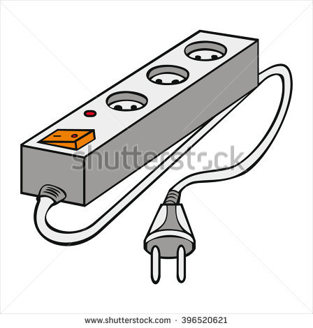 Insulated Electrical Extension Cord Cartoon Vector Stock Vector.
