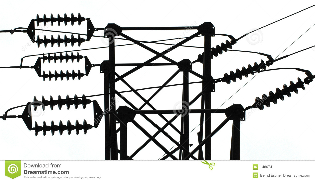 Power Line Insulators Stock Images.