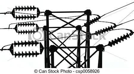 Stock Images of Power line insulator.