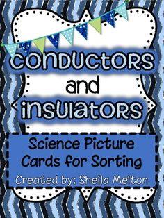 Electrical Conductors and Insulators Clip Art.