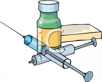 Insulin injection clipart.