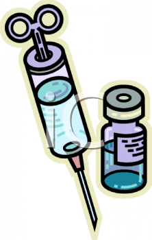 Hypodermic Needle and Insulin.