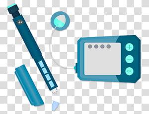 Insulin Blue, Insulin Pump, Insulin Pen, Electronics.