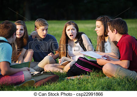 Stock Image of Insulted Female Student.